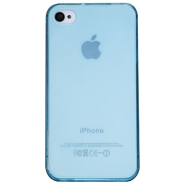 Exian iPhone 4/4s Case, TPU Transparent Blue