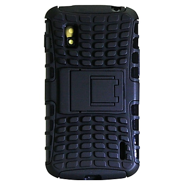 Exian Case for Nexus 4, Armored with Stand Black