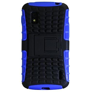 Exian – Étui protecteur bleu avec support pliable pour Nexus 4