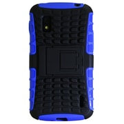 Exian Nexus 4 Case, Armoured with Stand Blue