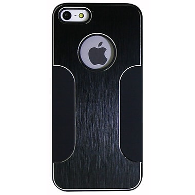 Exian iPhone SE/5/5s Case, Metallic with Matte Sides Black