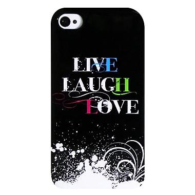 ExianMD – Étui pour iPhone 4/4s, vivre, rire, aimer 2