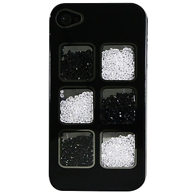 Exian iPhone 4 4s Case, Crystals Black