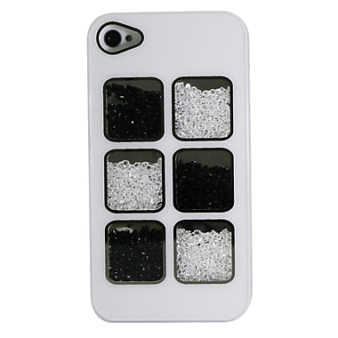 Exian iPhone 4 4s Case, Crystals White