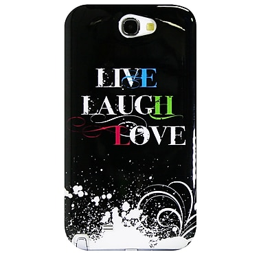 Exian – Étui « Live, Laugh, Love » 2 pour Galaxy Note 2