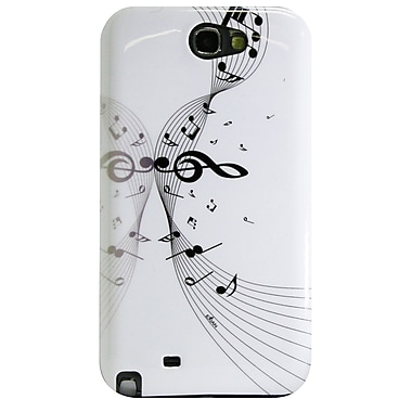 Exian Case for Galaxy Note 2, Musical Notes White