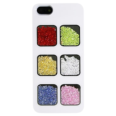 Exian iPhone SE/5/5s Case, Colour Crystals, White, (5G048)