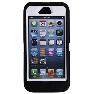 Exian – Étui protecteur noir et blanc pour iPhone 5