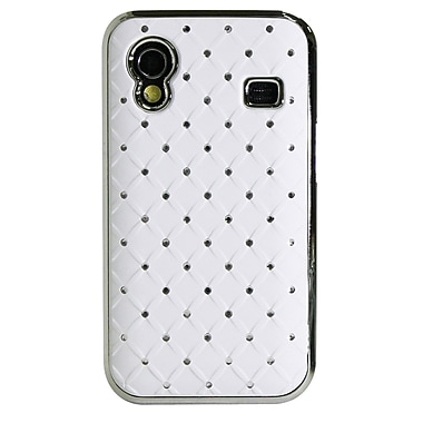 Exian Case for Galaxy Ace, Diamond Pattern with Crystals White
