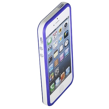 Exian – Étui antichoc pour iPhone 5/5s, blanc/bleu