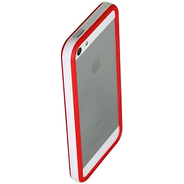 Exian iPhone SE/5/5s Bumper Case, White/Red