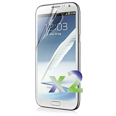 Exian Galaxy Note 2 Screen Protector, 2 Pieces, Clear