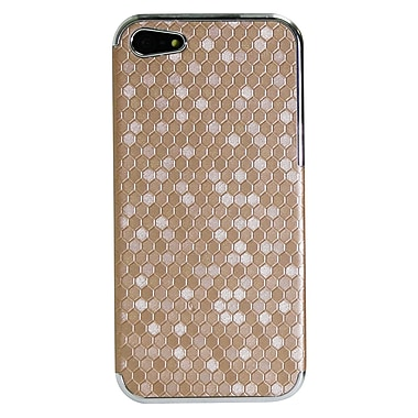 Exian iPhone SE/5/5s Case, Hexagon Pattern Gold