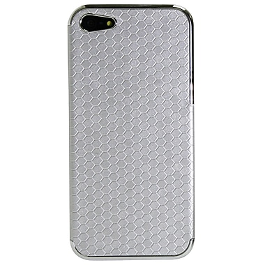 Exian iPhone SE/5/5s Case, Hexagon Pattern Silver
