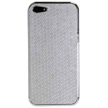Exian – Étui à motifs hexagonaux argentés pour iPhone 5
