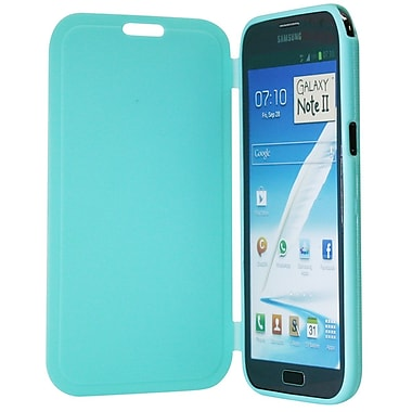 Exian Case for Galaxy Note 2, with Front Cover Green