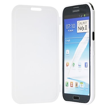 Exian Case for Galaxy Note 2, with Front Cover White