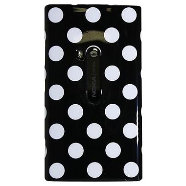 Exian – Étui pour Lumia 920 avec motif de pois blancs sur fond noir