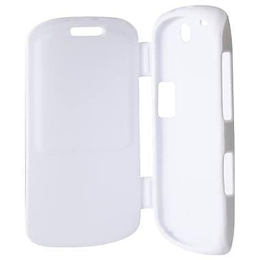 Exian – Étui pour BlackBerry Curve 9360, blanc avec couvercle