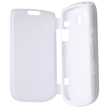 Exian Case for Blackberry Bold 9700, White with Front Cover