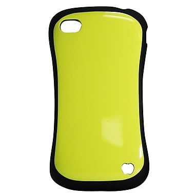 Exian Case for iPhone 4, Protective Yellow with Black Edges