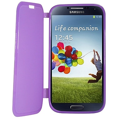 Exian Case for Galaxy S4, Purple with front cover