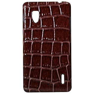 Exian Case for Optimus G, Crocodile Skin Brown