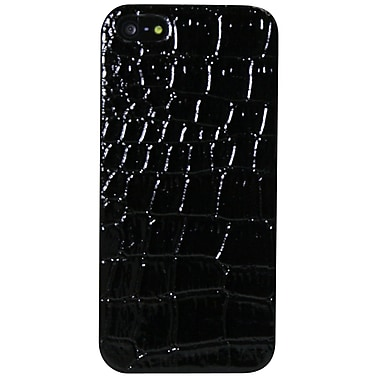 Exian iPhone SE/5/5s Case, Crocodile Pattern Black