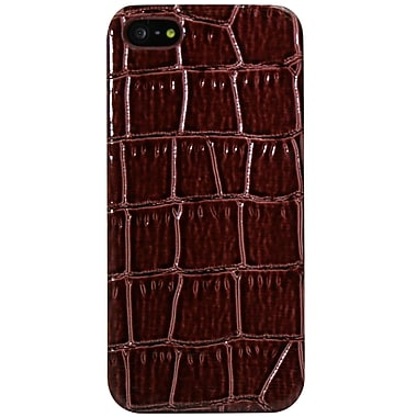 Exian iPhone SE/5/5s Case, Crocodile Pattern Brown