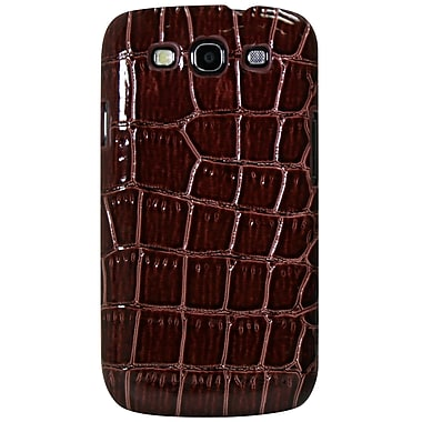 Exian Case for Galaxy S3, Crocodile Skin Brown