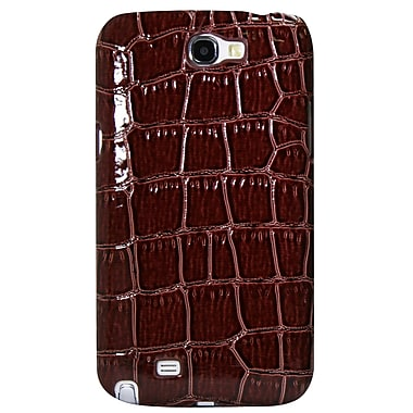 Exian Case for Galaxy Note 2, Crocodile Skin Brown