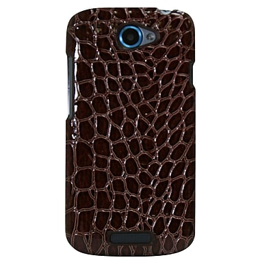 Exian Case for One S, Crocodile Skin Brown