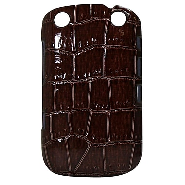 Exian Case for Blackberry Curve 9320, Crocodile Skin Brown