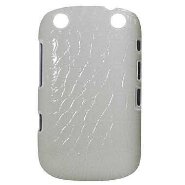 Exian Case for Blackberry Curve 9320, Crocodile Skin White