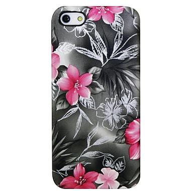 Exian – Étuis à motifs floraux rose et noir pour iPhone 5