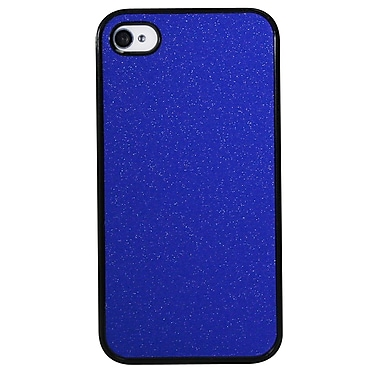 Exian Case for iPhone 4, Matte Sparkling Blue