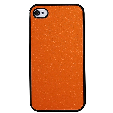 Exian – Étui pour iPhone 4, orange mat étincelant