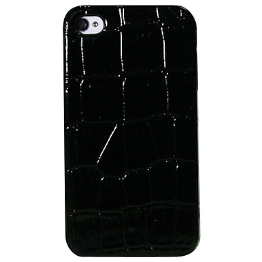 Exian iPhone 4/4s Case, Crocodile Skin Pattern Black