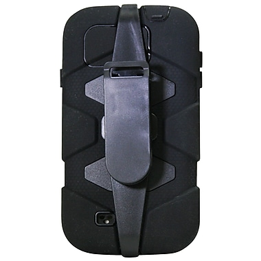 Exian Case for Galaxy S4, Armored with Belt Clip