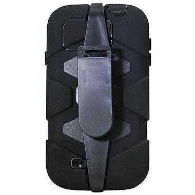 Exian – Étui protecteur avec pince à ceinture pour Galaxy S4