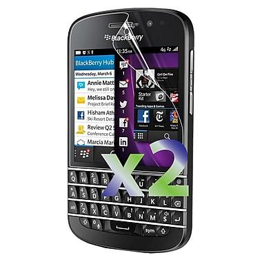 Exian – 2 protecteurs d'écran transparents pour BlackBerry Q10