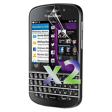 Exian Blackberry Q10 Screen Protectors, 2 Pieces