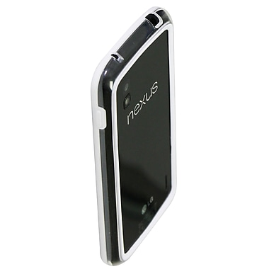 Exian Case for Nexus 4, Bumper White