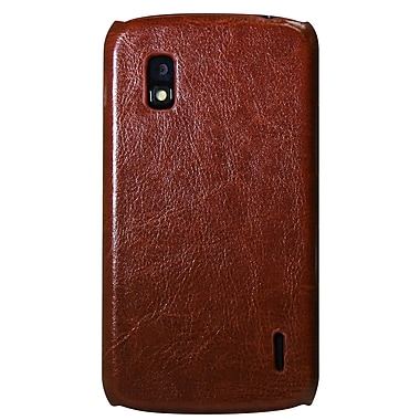 Exian Case for Nexus 4, Brown Leather