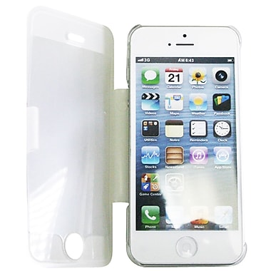 Exian – Étui transparent avec support pliable pour iPhone 5, transparent