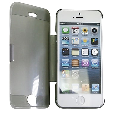 Exian iPhone SE/5/5s Transparent Case with Folding Stand, Grey