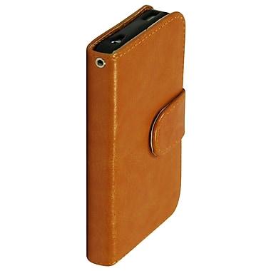 Exian – Étui portefeuille en cuir pour iPhone 4/4s, beige