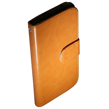 Exian Nexus 4 Leather Wallet Case, Beige