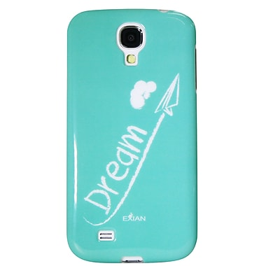 Exian Case for Galaxy S4, Dream White on Teal