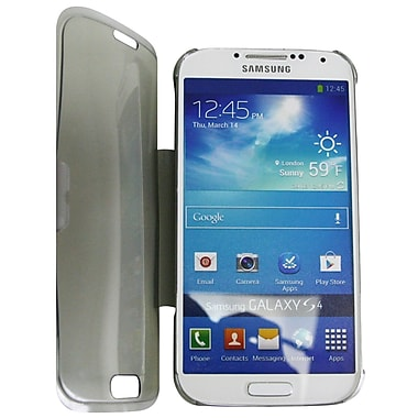 Exian Case for Galaxy S4, Transparent with Front Cover Grey